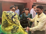 Distribution-of-Water-Filter-and-Improved-Cookstove-by-Madam-Secretary-to-President-of-India-at-Dhaulha-Village-on-30.11.2016-under-Smart-Gram-Initiative